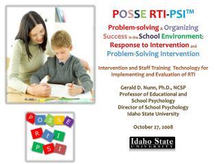 P O S S E RTI - PSI™