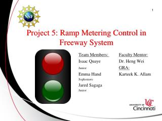 Project 5: Ramp Metering Control in Freeway System