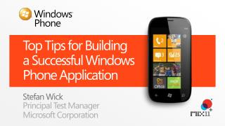 Top Tips for Building  a  Successful Windows Phone Application