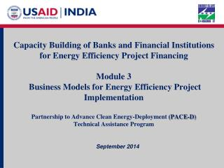 Capacity Building of Banks and Financial Institutions for Energy Efficiency Project Financing