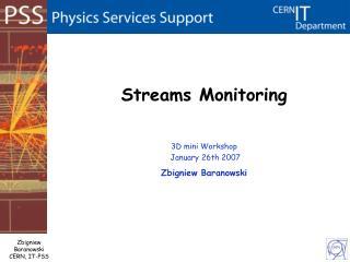 Streams Monitoring