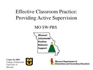 Effective Classroom Practice: Providing Active Supervision