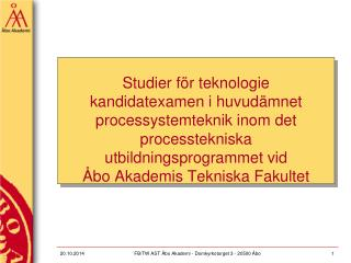 Studier för teknologie kandidatexamen