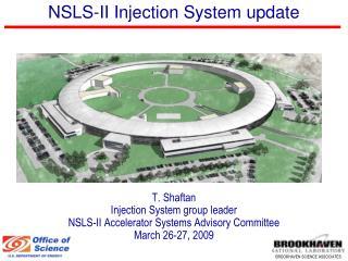 NSLS-II Injection System update