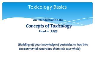 Toxicology Basics