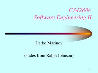 CS428/9:   Software Engineering II
