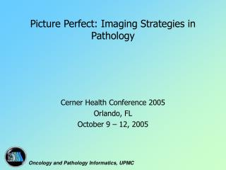 Picture Perfect: Imaging Strategies in Pathology
