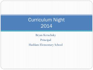 Curriculum Night  2014