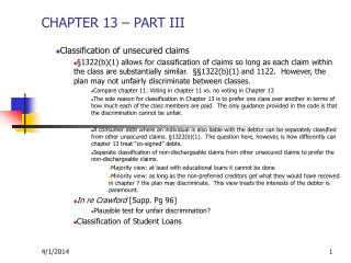 CHAPTER 13   PART III