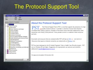 The Protocol Support Tool