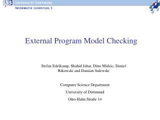 External Program Model Checking