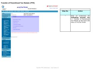 Transfer of Parenthood Tax Rebate (PTR)