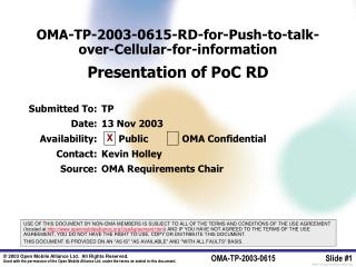 OMA-TP-2003-0615-RD-for-Push-to-talk-over-Cellular-for-information Presentation of PoC RD