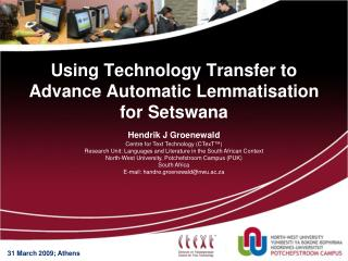 Using Technology Transfer to Advance Automatic Lemmatisation for Setswana