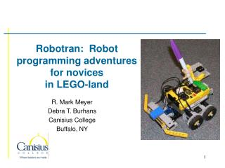 Robotran:  Robot programming adventures for novices  in LEGO-land