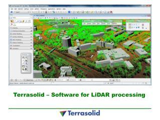 Terrasolid – Software for LiDAR processing