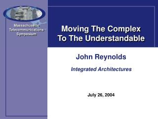 Moving The Complex To The Understandable