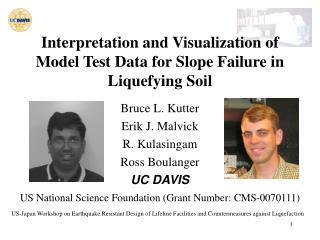 Interpretation and Visualization of Model Test Data  for Slope Failure in Liquefying Soil