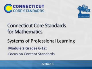 Connecticut Core Standards  for Mathematics