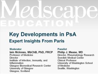 Key Developments in PsA