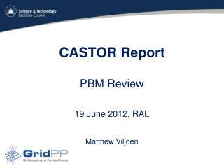 CASTOR Report