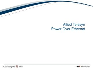 Allied Telesyn Power Over Ethernet