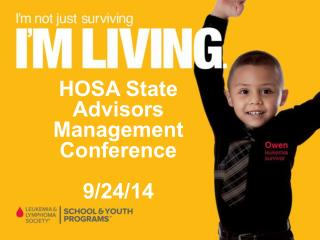 HOSA State Advisors Management Conference 9/24/14