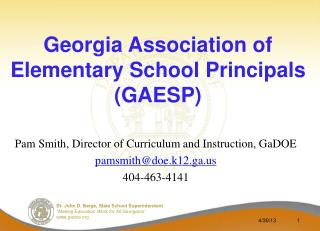 Georgia Association of Elementary School Principals (GAESP)