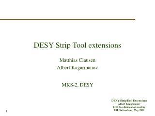 DESY Strip Tool extensions