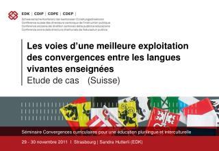 S�minaire  Convergences curriculaires pour une �ducation plurilingue et interculturelle
