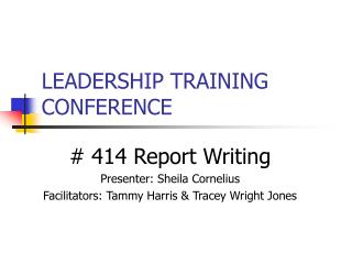 LEADERSHIP TRAINING CONFERENCE