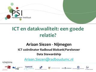ICT en datakwaliteit: een goede relatie?