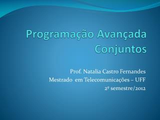 Programação Avançada Conjuntos