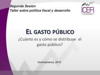 El gasto público
