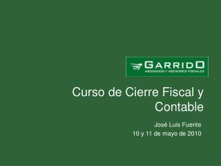 Curso de Cierre Fiscal y Contable