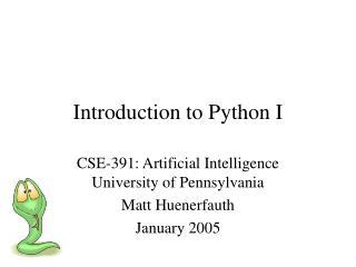 Introduction to Python I