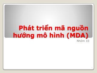 Phát triển mã nguồn hướng mô hình (MDA)