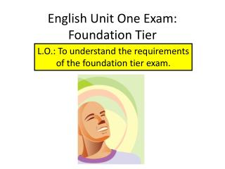 English Unit One Exam:  Foundation Tier