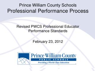 Prince William County Schools Professional Performance Process
