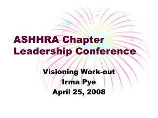 ASHHRA Chapter Leadership Conference