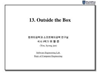 13. Outside the Box