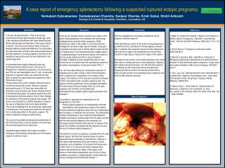 A case report of emergency splenectomy following a suspected ruptured ectopic pregnancy