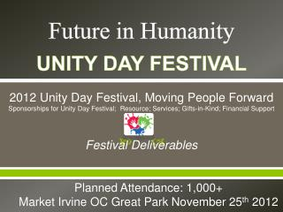 Unity Day Sponsor Packages