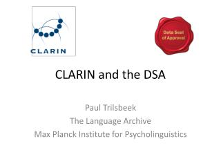 CLARIN and the DSA