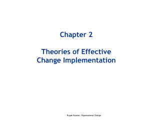 Chapter 2 Theories of Effective Change Implementation