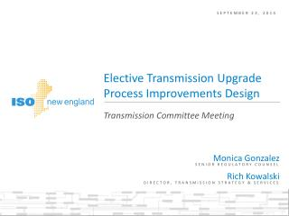 Elective Transmission Upgrade Process Improvements Design