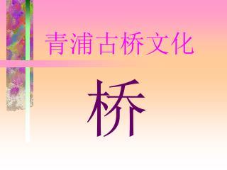 青浦古桥文化