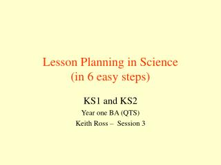 Lesson Planning in Science (in 6 easy steps)