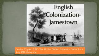 English Colonization-Jamestown
