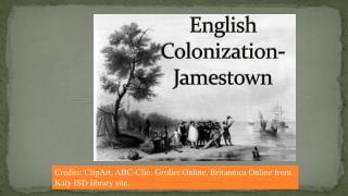 English Colonization-Jamestown
